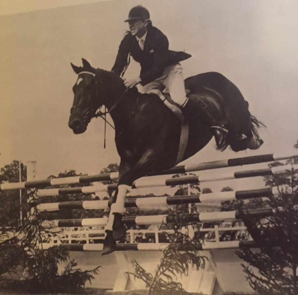 Marion and Stroller on their way to winning the Hickstead Derby